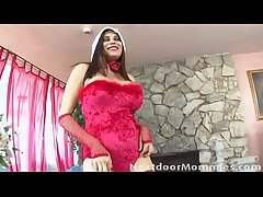 Big breasted mature santa floosie fucked