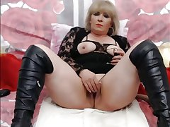 Fair-haired Mature On WebCam