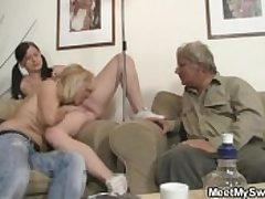 Her BF steps get off on the room increased by she fucks his parents