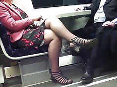 Undeceitful Sexy Crossed Legs 8. Hot Mature! (+slow motion)