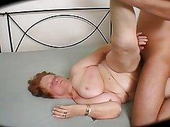 Big Hindquarters Curvy Granny - 69