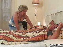 Old beldam uses son in law