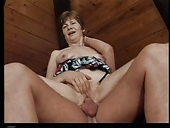 Old hag moans greatest extent getting fucked beyond everything a settee