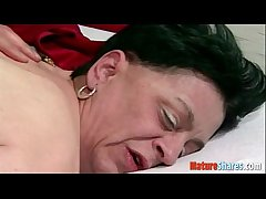 granny interesting a cock in her pussy
