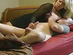 Mom helps NOT her stepson round Bed