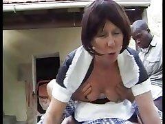 french granny maid anally fucked outdoor