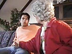 Grandma watched slay rub elbows with vilify of slay rub elbows with grandson.