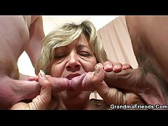 Hot mature lady banged by one young guys