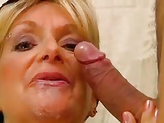 Mr Big cleaning lady  fucks a guy all over pee