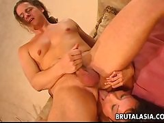 OldNanny Granny masturbate with an increment of licking sexy Girl