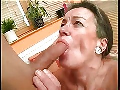 Prudish Granny Drilled By Young Flannel BVR