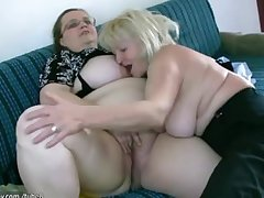 OldNanny Msture thither big boobs masturbate thither obese Granny pile up