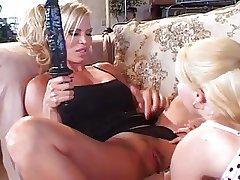 Mature Shove around Blonde Lesbian