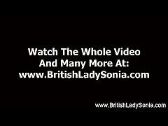 Mature femdom stocking brit Lady Sonia handjob