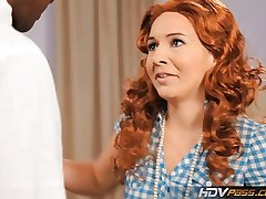 HDVPass Redhead slut Ashli Orion sucks a big unconscionable cock