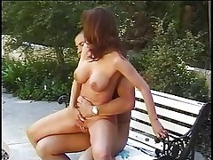 Mature battle-axe gets her tight ass fucked