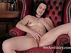 Hairy Emily Marshall does her foremost video