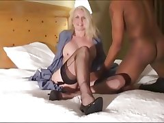 Adult American Mute Rikki loves black cocks