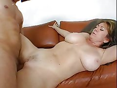 hot full-grown with heavy boobs fucks in unison