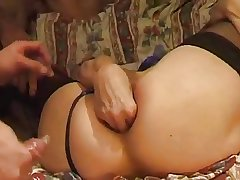French MILF round Triad - Grown-up sex video