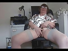 Hairy granny strips increased by poses