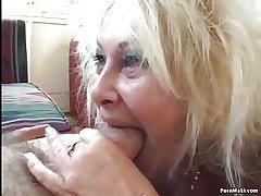 Granny and BBW upon threesome dissemble