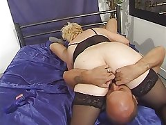 Granny in Stockings Toyed with the addition of Fucked