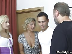 Czech blonde Rococo into accommodation billet threesome