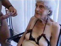 Tasteless superannuated granny gets fucked