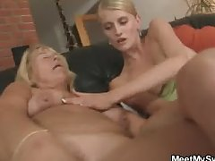 Pussy toying and cock riding at her birthday