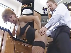 His compliments made this German granny near stockings horny