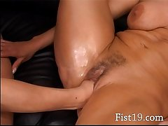 Blonde full-grown having cunt fisted hard