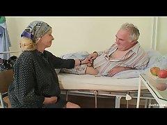 Elderly Couple Blowjob
