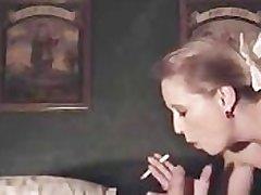 Sexy roughtalking cougar smoking sexual congress