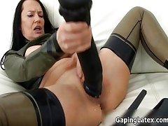 Dirty grown-up slut goes crazy