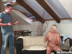 Tippler orgy with horny granny together with her son in law