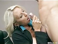 BIG Titty BLONDE MILF BOSS IN STOCKINGS Roger BIG DICK Nomination WORKER