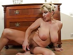 Prudish Busty Of age Milf Strips and Toys