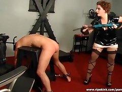 Slutty whore spanks her interesting guy