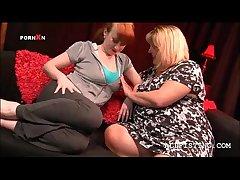 Dispirited BBW grown up lesbos shagging close to lust