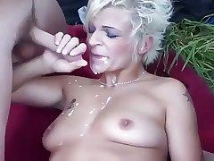 Dabbler - Blond Mature Outdoor MMF Threesome