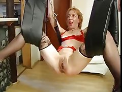 mature fisting coupled with toying