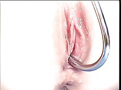 Pulchritudinous mature blonde has her shaved pussy be full with a hook and clit pumped
