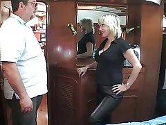 mature British blonde gender om a sailing-boat