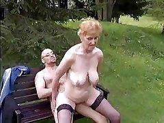 Battle-axe granny with regard to nice boobs & guy