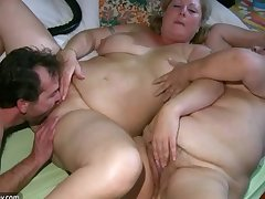 Venerable chubby Granny has massage from BBW mature Nurse