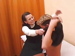 Hairy Granny in stockings fucked by young cadger