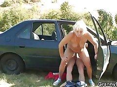 Car Historical coachman bangs granny whore