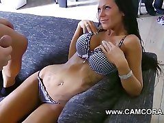 German Amateur anent Big Bowels added to Tattoos Lea4you acquire fucked