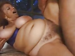 Chunky titted hairy granny outdoor